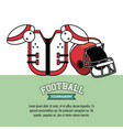 american football tournament infographic vector image vector image