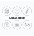 Antenna minerals and engineering helm icons vector image vector image