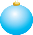 Baby Blue Ball Ornament vector image vector image