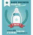 Baby Boy Shower Invitation Card vector image vector image