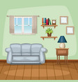 background living room home scene vector image