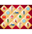 Background with Christmas toys vector image