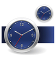 Blue Clock Icons vector image vector image