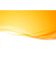 bright orange elegant beautiful border wave vector image