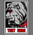 bulldog in frame vector image