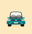 car front view flat vector image vector image