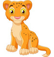 cartoon baby lion isolated on white background vector image vector image