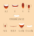 cartoon talking mouth and lips expressions for vector image vector image