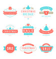 christmas sale badges labels and tags design vector image vector image