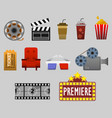 cinema watching graphic vector image