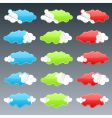 cloudy peeling stickers vector image vector image