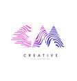 cm c m zebra lines letter logo design with vector image