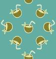 Coconut Beach Drink seamless pattern