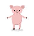 cute pig cartoon cartoon pig vector image vector image