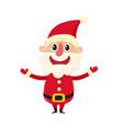 cute smiling santa claus cartoon vector image vector image
