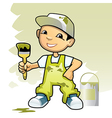 decorator with brush vector image vector image