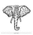 ethnic elephantfor cards designhand drawn vector image vector image