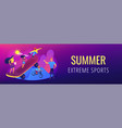 extreme camp concept banner header vector image vector image