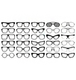 Eye glasses silhouettes vector image vector image