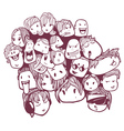 faces doodles vector image vector image