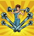 female master car repair garage machineservice vector image