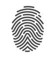fingerprint icon identification crime vector image vector image