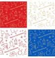 Four Christmas seamless backgrounds great choice vector image vector image