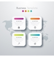 four square infographics vector image vector image