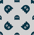 Ghost icon sign Seamless pattern with geometric vector image vector image