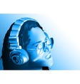 Girl DJ with Headphones vector image vector image