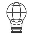 globe save bulb icon outline style vector image