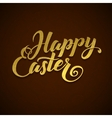 Gold Foil Happy Easter Greeting Egg Card vector image