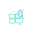 gps location map travel direction icon design vector image