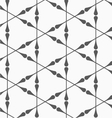 Gray clubs forming triangles vector image
