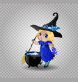 halloween clip art character of anime blonde baby vector image vector image