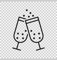 hampagne glass icon in transparent style alcohol vector image vector image