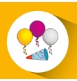 Happy birthday icon vector image vector image