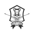 hunting club crest with carbines and boar vector image vector image