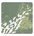 leaves grunge background vector image vector image
