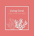 living coral - color year 2019 template vector image vector image