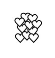 love hearts icon vector image