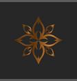 luxury logo lotus logo vector image vector image