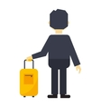Man with travel bag vector image vector image