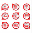 modern badges red collection vector image vector image