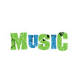 music concept colorful stamped word vector image vector image