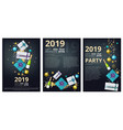 new year party brochure holiday christmas 2019 vector image vector image