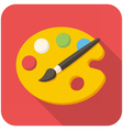 Paint brush with palette icon vector image vector image