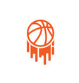 painting basketball symbol vector image vector image