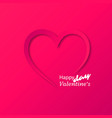 paper heart valentines day card vector image vector image
