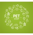 Pet Shop Concept vector image vector image